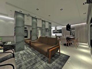 Studio Diego Duracenski Interiores Modern living room Ceramic Grey
