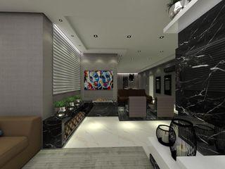 Studio Diego Duracenski Interiores Modern living room Marble Black