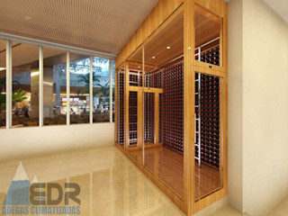 EDR - Adegas Climatizadas Wine cellar Wood Wood effect