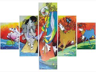 Indian Art Ideas ArteImagens e pinturas Algodão