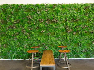 Artificial Greenery Wall For Indoor & Outdoor Landscape Sunwing Industries Ltd Interior landscaping Plastic Green