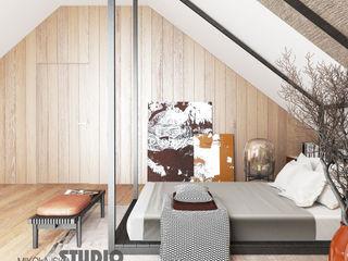 Villa auf der Unrugstraße MIKOLAJSKAstudio Moderne Schlafzimmer