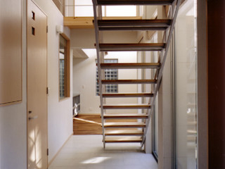 コの字型パティオのある家-Ⅰ 豊田空間デザイン室 一級建築士事務所 北欧スタイルの 玄関&廊下&階段
