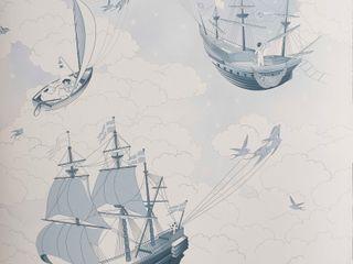 FISHING FOR STARS Sky Blue Wallpaper 10m Roll Hevensent 가정 용품Accessories & decoration
