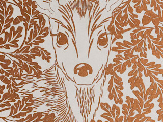 FOREST Copper Rust Metallic Screen Print Wallpaper 10m Roll Hevensent 가정 용품Accessories & decoration