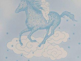 POPCORN Blue Wallpaper 10m Roll Hevensent HouseholdAccessories & decoration