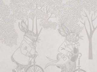Racing Rabbits Border Wallpaper 10m Roll Hevensent HouseholdAccessories & decoration