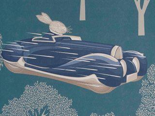 SPEED Blue Wallpaper 10m Roll Hevensent HouseholdAccessories & decoration