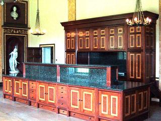 Stately Kitchen at Dodington House Tim Wood Limited KitchenCabinets & shelves Wood