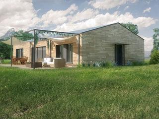 Belle Ville Atelier d'Architecture Modern houses Wood