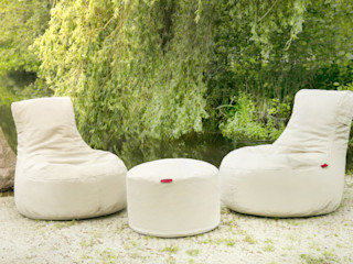 OUTBAG - Seat and Table (Style: Slope and Rock) Global Bedding GmbH & Co.KG Balconies, verandas & terraces Furniture Cotton Beige