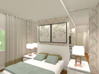 Gabriela Sgarbossa - Estúdio de Arquitetura Camera da letto in stile classico MDF Beige