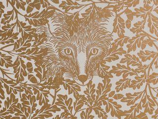 FOREST Midas Gold Screen Print Wallpaper 10m Roll Hevensent 가정 용품Accessories & decoration