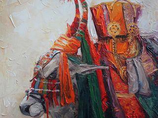 Indian Art Ideas ArteImagens e pinturas Algodão Multi colorido