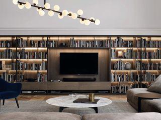 GN İÇ MİMARLIK OFİSİ 现代客厅設計點子、靈感 & 圖片