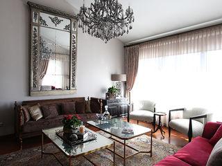 Country Side Villa Renovation Orkun Indere Interiors Living room Copper/Bronze/Brass Metallic/Silver