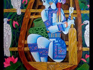 Indian Art Ideas ArteImagens e pinturas Multi colorido