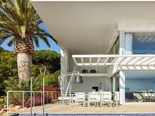 Casa Sant Feliu de Guíxols SOLER-MORATO ARQUITECTES SLP Casas de estilo mediterráneo Arenisca Blanco
