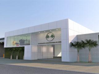 Eduardo Lins & Bárbara França - ARQUITETURA Espaces de bureaux modernes Aluminium/Zinc Blanc