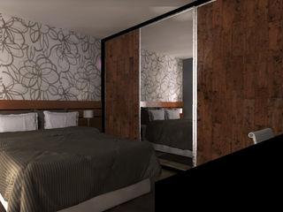 Gabriela Sgarbossa - Estúdio de Arquitetura Camera da letto in stile classico MDF Effetto legno