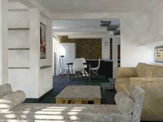 Remodelación vivienda unifamiliar DIMA Arquitectura y Construcción Livings de estilo moderno