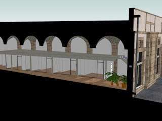 Vincent Athias Architecte DPLG Modern Corridor, Hallway and Staircase Reinforced concrete Grey