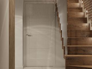 PRØJEKTYW | Architektura Wnętrz & Design Scandinavian style corridor, hallway& stairs