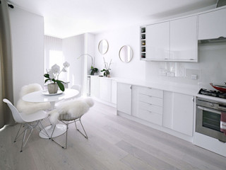 City Girl's Flat Collective Works Minimalist dining room