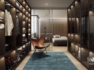 Komandor - Wnętrza z charakterem Modern dressing room Chipboard Brown