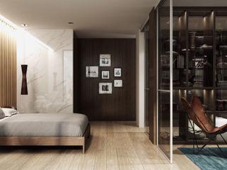 Komandor - Wnętrza z charakterem Dormitorios de estilo moderno Aglomerado Marrón