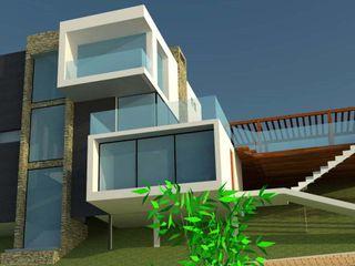 H2H arquitectos Casas de estilo minimalista Hierro/Acero Negro