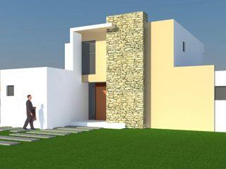 H2H arquitectos Casas de estilo minimalista Concreto reforzado Blanco