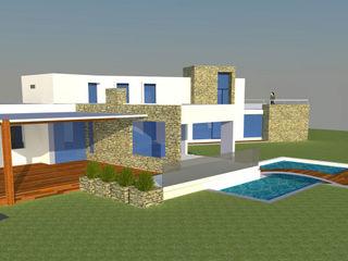 H2H arquitectos Casas modernas Concreto reforzado Blanco