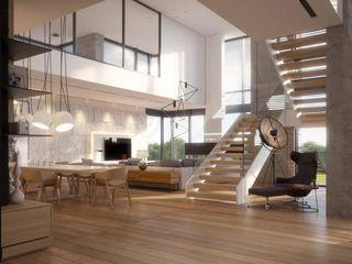 LK&Projekt GmbH 现代客厅設計點子、靈感 & 圖片
