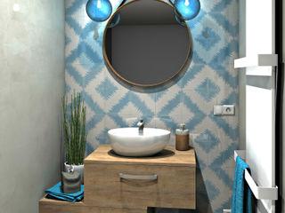 MJ Intérieurs Mediterrane Badezimmer Blau