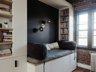 Study with Reading Nook homify Modern Çalışma Odası Mavi