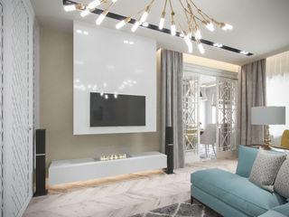 Студия дизайна интерьера Маши Марченко Ruang Keluarga Modern