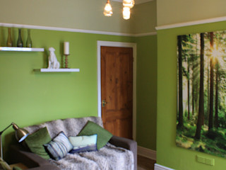 contemporary lounge Girl About The House Modern living room Green
