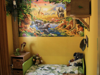 Jungle bedroom Girl About The House Phòng trẻ em phong cách chiết trung Multicolored