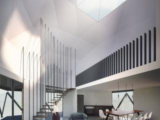 B+V Arquitectos Salas de estilo minimalista