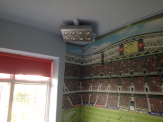 Football themed boys bedroom Girl About The House Living roomLighting Multicolored