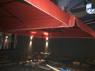 Akaydın şemsiye 庭院 鋁箔/鋅 Red