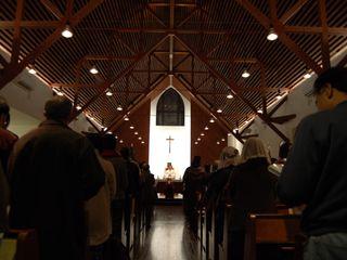 カトリック糸島教会リフォーム 環アソシエイツ・高岸設計室 和風デザインの 多目的室 木 ブラウン