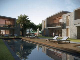Voltaj Tasarım Modern houses Concrete Grey