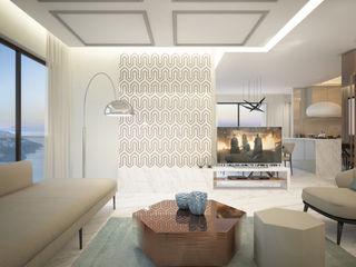 Voltaj Tasarım Living roomTV stands & cabinets Glass White
