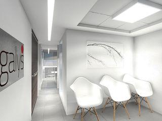 BUFETE DE ABOGADOS LEGACYS Grupo JOV Arquitectos Oficinas de estilo minimalista Mármol Blanco