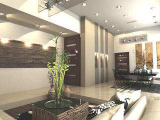 OLLIN ARQUITECTURA Modern Dining Room Wood Green