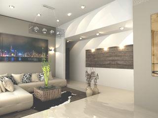 OLLIN ARQUITECTURA Modern Living Room Wood Green