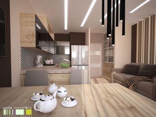 Мастерская интерьера Юлии Шевелевой Modern style kitchen