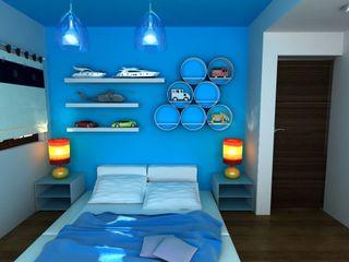 OLLIN ARQUITECTURA Modern Kid's Room Wood Blue